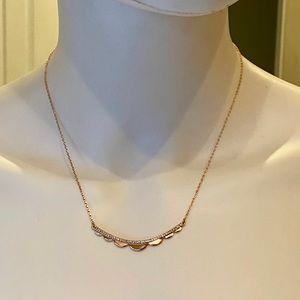 Kate Spade Rose Gold CZ Slender Scallops Necklace